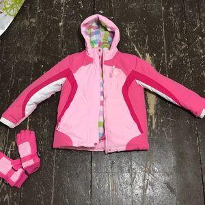 Reversible 2 in one kids snow jacket
